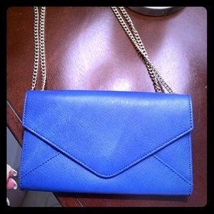 Barney's New York Bright Blue Clutch
